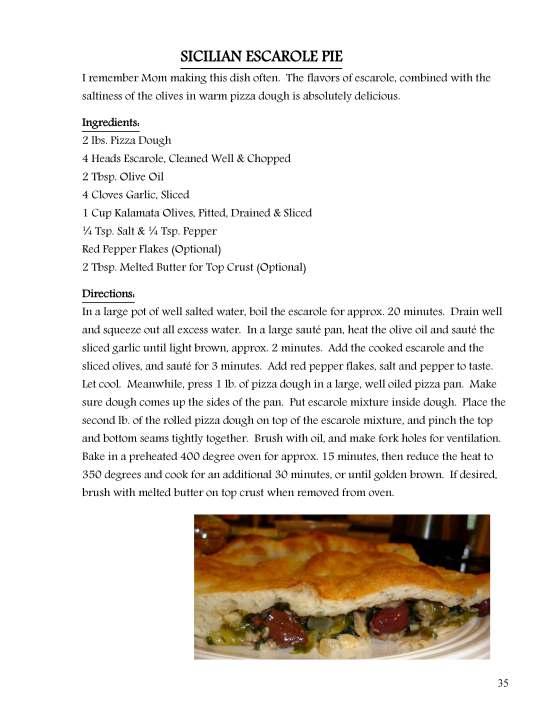 Sicilian Escarole Pie